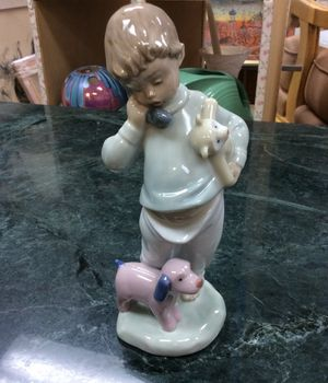 "Lladro porcelain figurine boy with stuffed animals 7-1/2"" tall for Sale in Fort Lauderdale, FL"