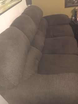 Plush Tweed Grey Couch for Sale in St. Louis,  MO