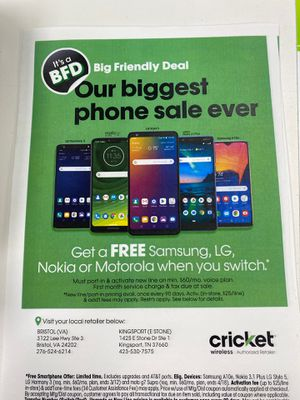Free phones!! for Sale in Johnson City, TN