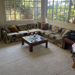 Free Sectional Couch- does not include throw pillows. A couple of the back cushions have rips, however the cushions that you sit on do not. for Sale in San Diego,  CA