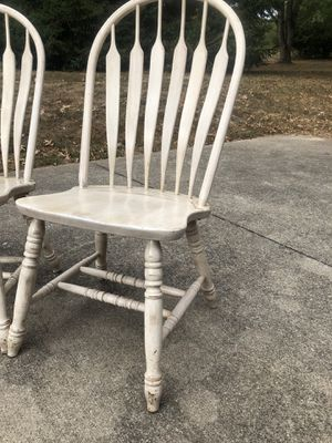 Hardwood Kitchen Table Chairs (6) for Sale in Lexington, KY