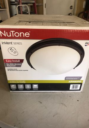Nutone ventilation fan with light for Sale in Fresno, CA