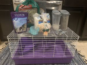 29.5x16x17.5 animal cage with supplies for Sale in Pearland, TX