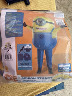 New Minion child inflatable costume/ message for price.. for Sale in Cayce, SC