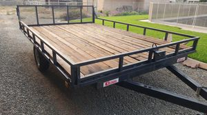 Carson flat deck utility trailer for Sale in Norco, CA