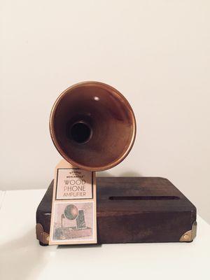 Wood phone amplifier for Sale in Alexandria, VA