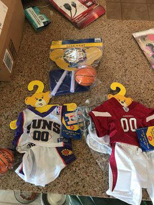 Brand new build a bear outfits. Suns and cardinals. With little basketball hoop. for Sale in Phoenix, AZ