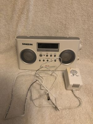 Sangean PR-D5 AM FM Stereo RDS Radio Synthesized Receiver - White for Sale in Fairfax, VA