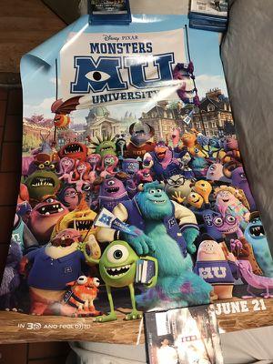 Disney Monster University Movie Poster for Sale in San Francisco, CA