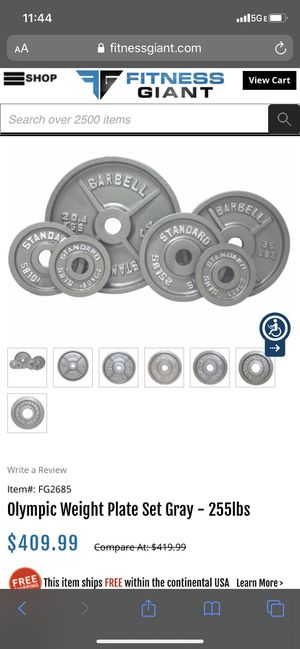 Weights with barbell and clamps for Sale in Dallas, TX