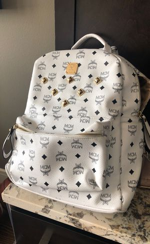 MCM large backpack white for Sale in Dallas, TX
