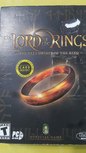 LORD OF THE RINGS THE FELLOWSHIP OF THE RING FOR WINDOWS for Sale in Miami Gardens, FL