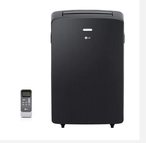 LG Electronics12,000 BTU (7,000 BTU, DOE) Portable Air Conditioner, 115-Volt w/ Dehumidifier Function and LCD Remote in Graphite (658) for Sale in Houston, TX