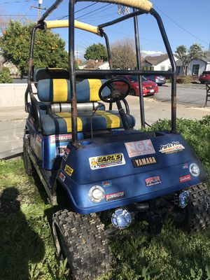 Stretched and lifted golf cart on steroids full roll bar and 4 seater for Sale in San Jose, CA