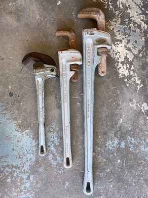 Aluminum Rigid pipe wrenches for Sale in Midland, TX