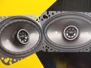 Car speakers : Kicker 4×6 2 way 150 watts car speakers brand new pair( price is lowest no install ) for Sale in Santa Ana, CA