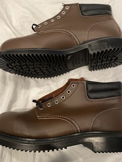 Red Wing Men Work Boots Steel Toe EH 8215 Size 8.5 & 10 E3 Made in USA Brown New men construction boots for Sale in Bloomington,  CA