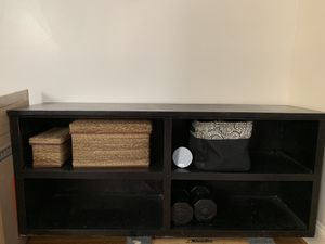 Black wooden shelving unit for Sale in Washington, DC