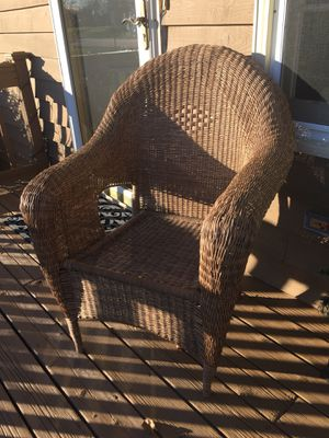 Cute outdoor wicker chair for Sale in Wheaton, IL