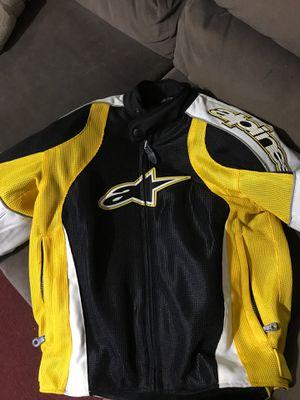 Women's XS alpine star motorcycle jacket black & yellow for Sale in Lawrenceville, GA