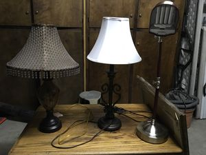 3 lamps all $25, 10 ea for Sale in Sanger, CA