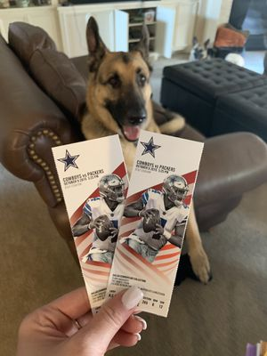 Cowboys v Packers - 10/6 @ 3:25 for Sale in Dallas, TX