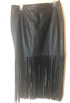 Chelsea and Theodore leather fringe skirt for Sale in Fort Myers, FL
