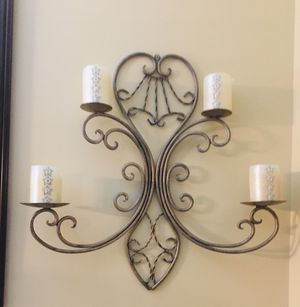 Wall candle holder and picture for Sale in Bolingbrook, IL