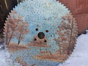 Painted Saw blade for Sale in Arcadia, MI