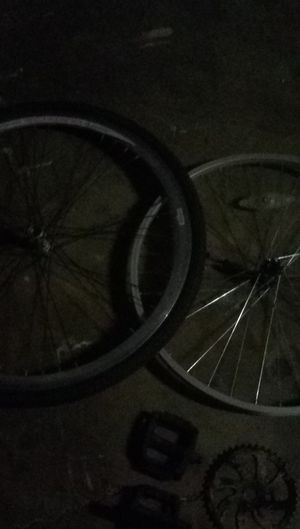 5 rims. 4 Tires. 2 handle bars. 2 sets of pedals. for Sale in Modesto, CA
