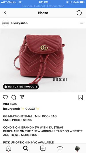 Gucci marmont love backpack brand new. Box and dust bags receipt if needed for Sale in Boston, MA