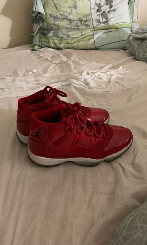 Red Jordan 11s size 9 but if you wear 9.5 u can fit to for Sale in St. Louis, MO