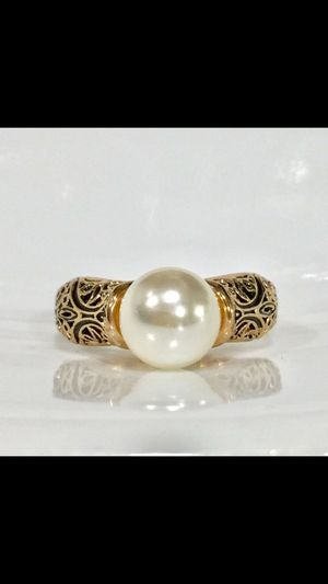 Gold tone vintage pearl ring size 6.7.8.9 available for Sale in Silver Spring, MD