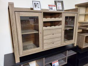 Wine Cabinet, Dark Taupe for Sale in Santa Ana, CA