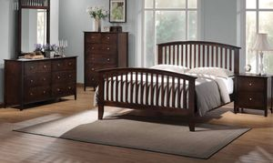 King 4pc bedroom set / All wood sturdy! New! for Sale in Modesto, CA