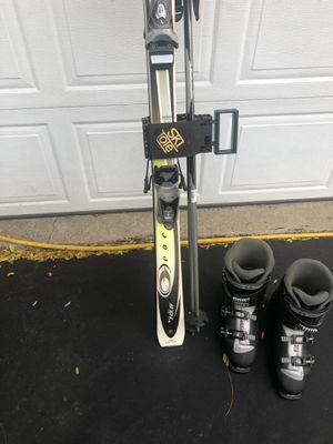Rossignol snow Skis. Salomon boots size 12.5 men's for Sale in Lombard, IL