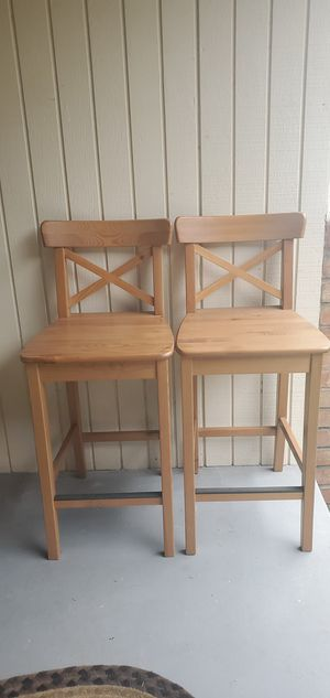 PAIR. OF. WOOD. STOOLS for Sale in Tumwater, WA