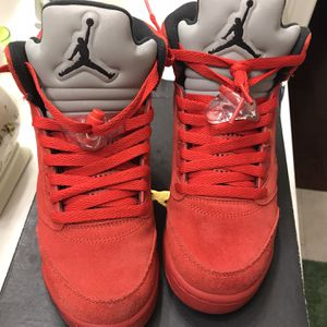 "Jordan 5 ""Red Suede"" for Sale in Wake Forest, NC"