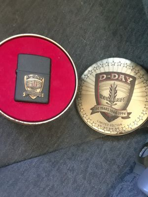 D DAY LIMITED EDITION ZIPPO AND TIN for Sale in Sandy, UT