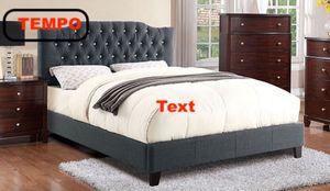 Full Upholstered Bed Frame, Grey for Sale in Pico Rivera, CA