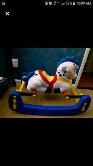 Toddler rocking horse used for sale  good condition, easy wipe surface and easy to take off fabric to machine wash for Sale
