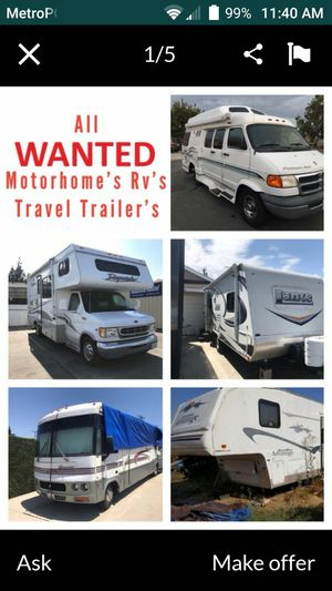 I need an RV to live in for Sale in Clovis, CA