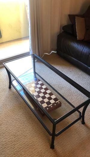 Glass coffee table for Sale in La Jolla, CA