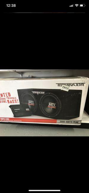 2 12 inch MTX audio subwoofers 2000 watts for Sale in Queen Creek, AZ