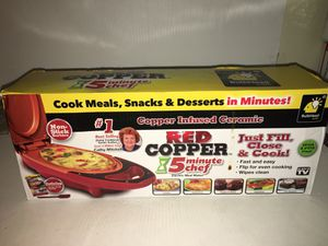 RED COPPER 6 Minute Chef Electric meal maker non-stick for Sale in Brooklyn, NY