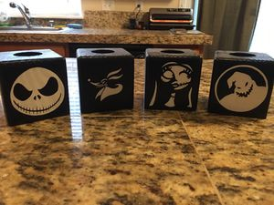 Nightmare before Christmas tea light candle holders for Sale in Vancouver, WA