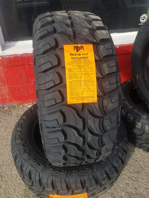 33x12.50r20 mud tires finance available $39 down for Sale in Tulsa, OK