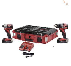 Vendo herramientas nuevas Milwaukee M18 18-Volt Lithium-Ion Brushless Cordless Drill/Impact Combo Kit (2-Tool) W/ (2) 2.0Ah Batteries and for Sale in Stanardsville, VA