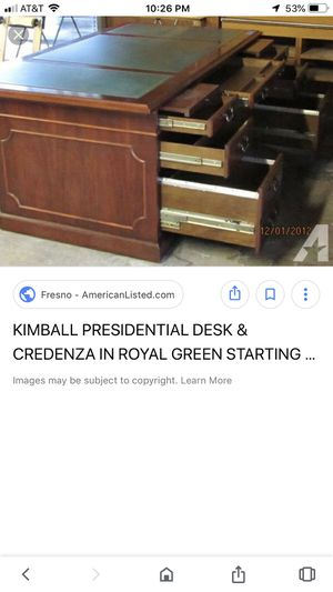 Kimball Executive Desk USED for Sale in NJ, US