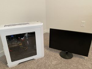 Custom Gaming PC w/ Gaming Monitor for Sale in Lawrence, KS